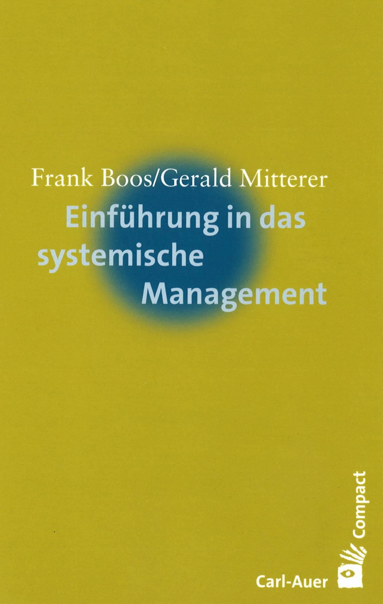 Einführung in das systemische Management - Buchcover
