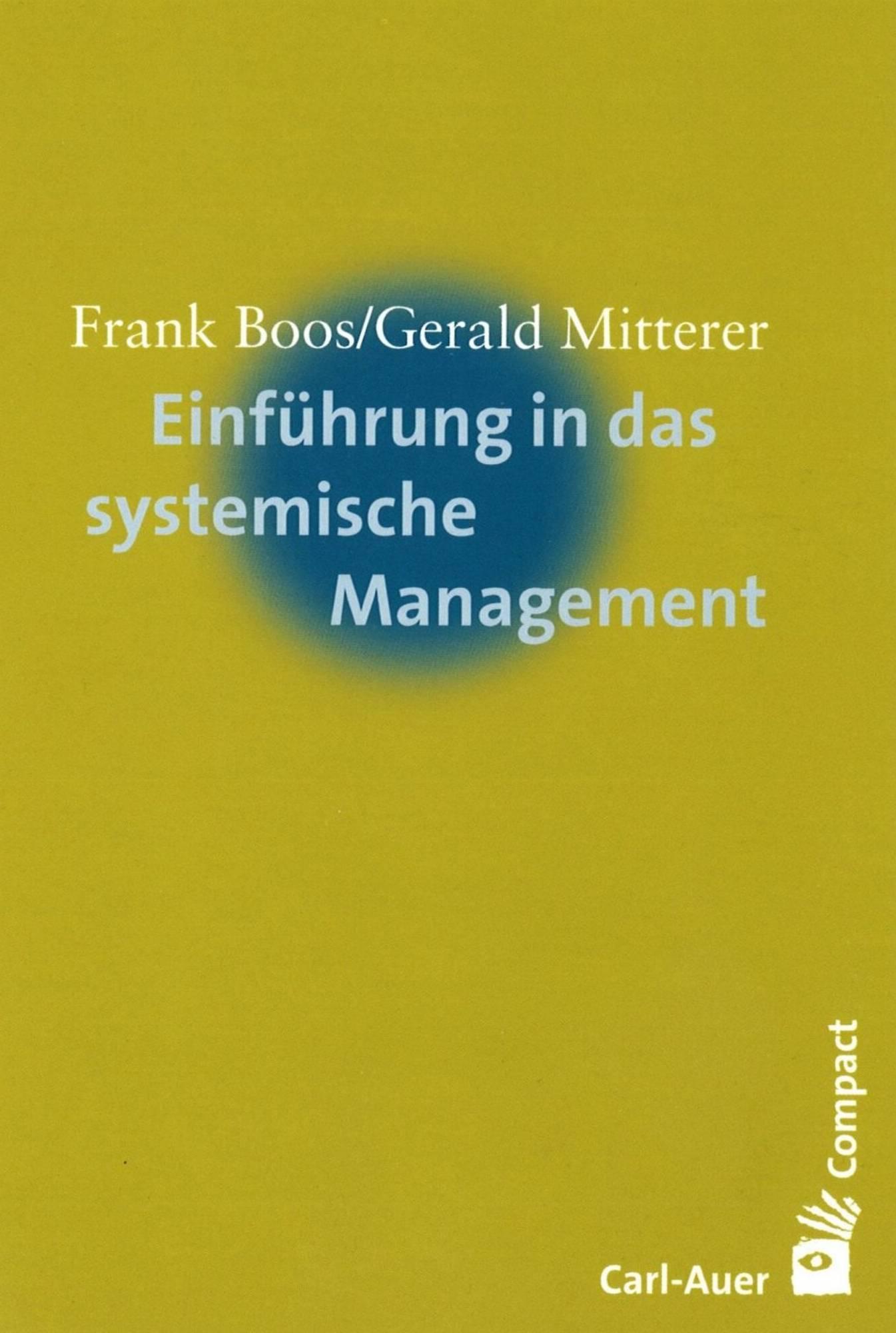 Buchcover Einführung in das systemische Management